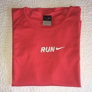 Nike run DRI-FIT T SHIRT cap sleeves short length